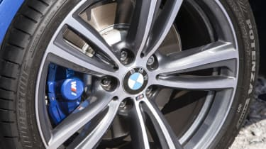 M Sport models are fitted with large alloy wheels and run-flat tyres, which can make the ride quite firm