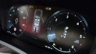Traditional analogue gauges have been replaced by a TFT display