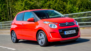You can have your C1 all in one colour, or specify a contrasting roof and mirror caps