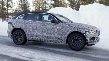 Jaguar F-Pace facelift prototype - side view