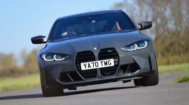 BMW M4 Coupe front cornering