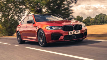 2021 BMW M5 Competition saloon - front 3/4 dynamic