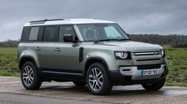 Land Rover Defender SUV lay-by