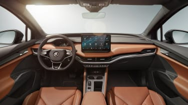 2021 Skoda Enyaq iV - dashboard wide view
