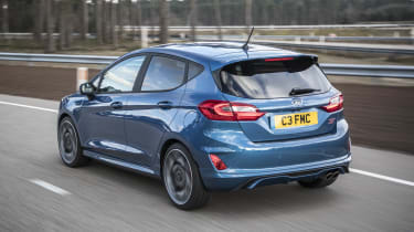 Styling additions over the standard Fiesta include unique alloy wheels and more aggressive bodywork