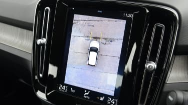 Volvo XC40 SUV parking camera view