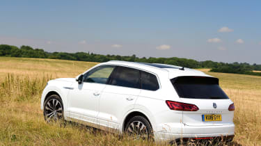 Volkswagen Touareg SUV rear off-roading