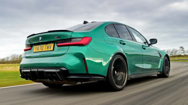 BMW M3 Competition saloon - rear view low