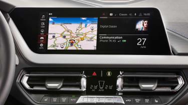 BMW M135i infotainment screen