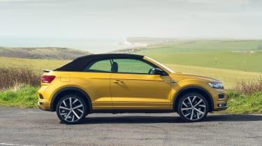 Volkswagen T-Roc Cabriolet side view - roof up
