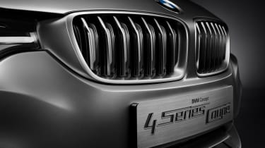 BMW 4 Series Coupe 2013 grille detail