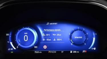 Ford Focus ST hatchback digital instruments