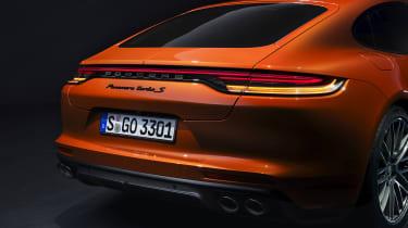 2020 Porsche Panamera Turbo S rear end detail
