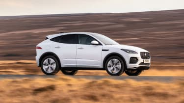 Jaguar E-Pace SUV review side panning