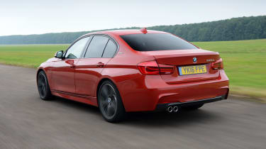 BMW 330e - rear 3/4 driving