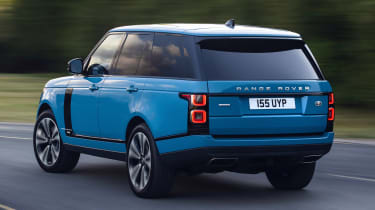 Range Rover Fifty driving - rear view