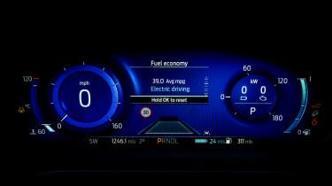 Ford Kuga Plug-in Hybrid digital instruments