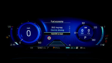 Ford Kuga Plug-in Hybrid digital instruments