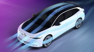 Volkswagen ID. Space Vizzion concept airflow graphic