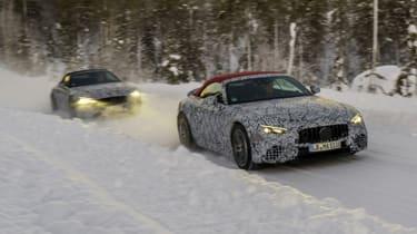 2021 Mercedes SL prototypes winter testing