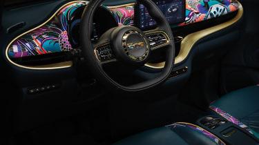 2020 Fiat 500 electric Bvlgari - interior