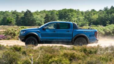 Ford Ranger Raptor pickup side off-road