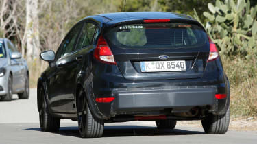 Prototype New Ford Fiesta demonstrates wide track, hints at strong handling prowess