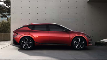 2021 Kia EV6 GT-Line - side on view