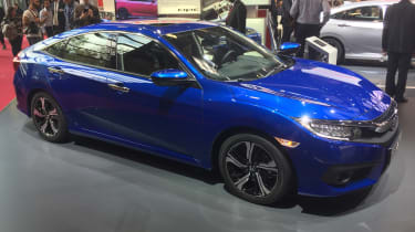 The new Honda Civic is hoped to attract sales from premium German brands