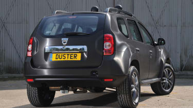 Dacia Duster SUV 2013 rear quarter static