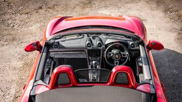 Porsche 718 Boxster convertible cabin