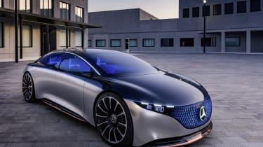 Mercedes EQS concept close up