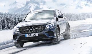 Mercedes GLC in snow