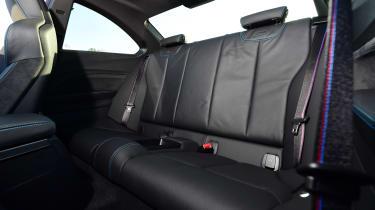 BMW M2 rear seats