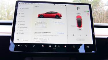 Tesla Model 3 saloon infotainment display