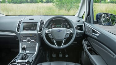 The interior of the S-MAX was updated relatively recently but it remains airy and the dashboard has a sporty feel.