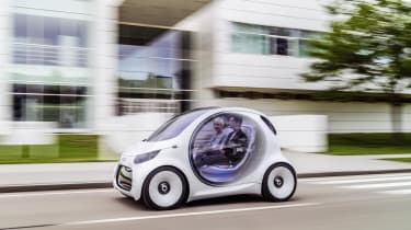 As a design study, the Vision EQ features high-tech systems, some of which may feature in the future production vehicles