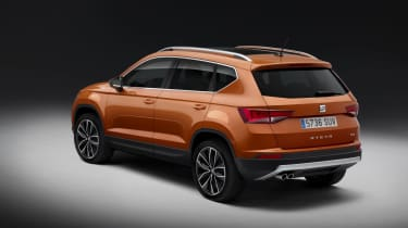The SEAT Ateca is closely related to the VW Tiguan and the Skoda Kodiaq...