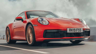 Porsche 911 coupe front tracking