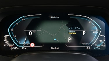 BMW X5 xDrive45e SUV digital instruments