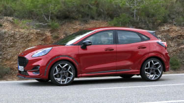 2020 Ford Puma ST - front 3/4 view passing
