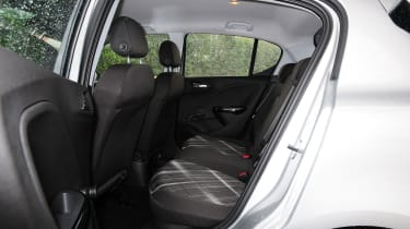 In the rear of the Corsa there is seating for three