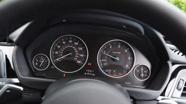 The BMW 3 Series' dials are clear and easy-to-read