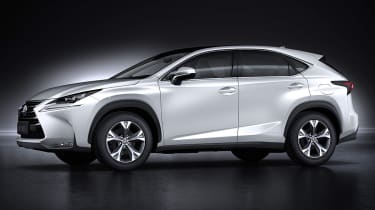 Lexus LF-NX SUV 2014 side profile