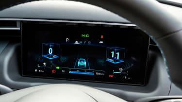 Hyundai Tucson SUV digital instrument graphics
