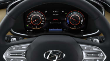 2020 Hyundai Santa Fe digital instrument cluster