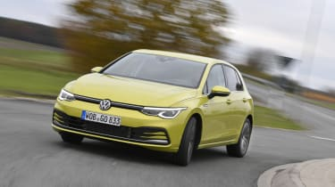 2020 Volkswagen Golf - front 3/4 dynamic driving view