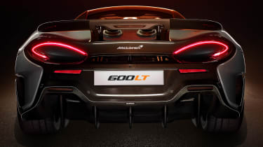 McLaren 600LT rear bumper