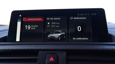 BMW M2 infotainment screen