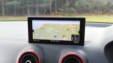 Audi SQ2 SUV infotainment display